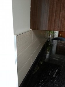 splash back-high quality ceramic tiles,trim-metal square edge-chrome effect-antibacterial flexible grout